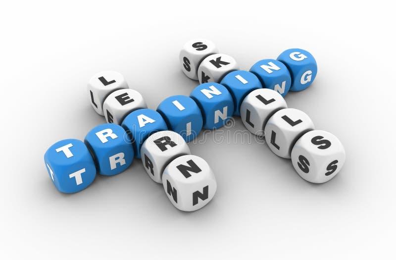 Trainings-Kreuzworträtsel lizenzfreie abbildung