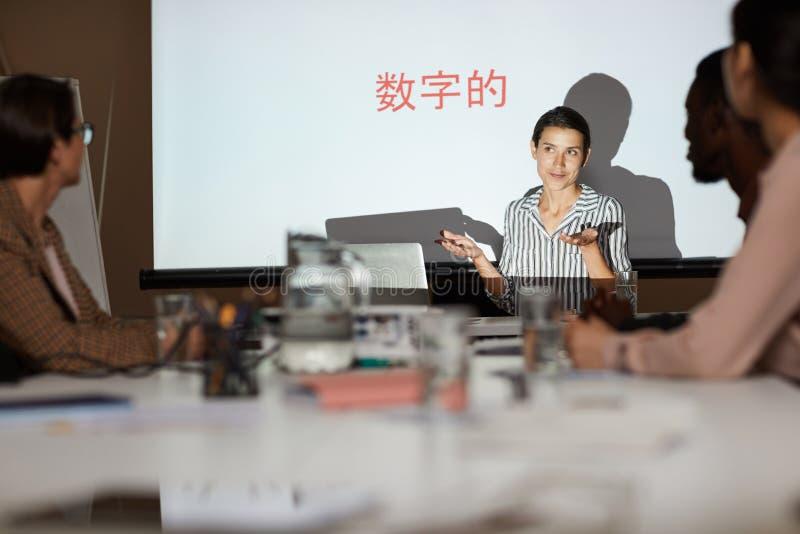 Trainingsklasse für chinesische Studenten lizenzfreie stockfotografie