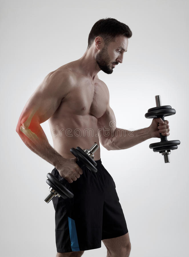 Trainning τραυματισμός βάρους στοκ εικόνες με δικαίωμα ελεύθερης χρήσης