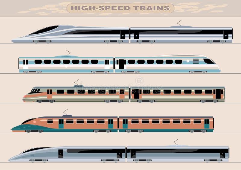 Trains à grande vitesse illustration libre de droits