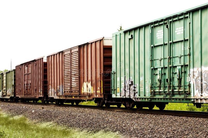 Trains de cargaison photos stock
