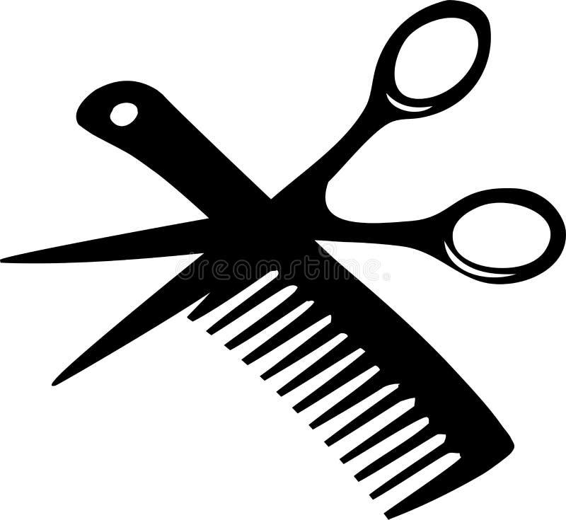Trains de coiffeur illustration de vecteur
