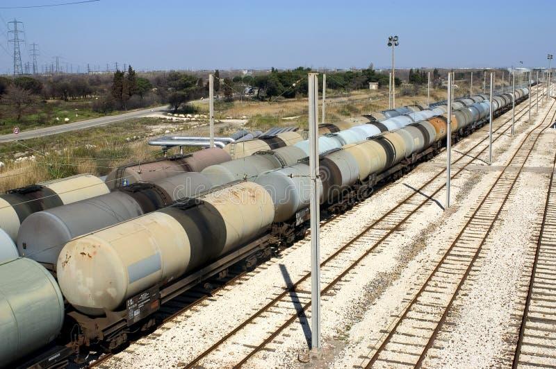 Trains de pétrole photos stock
