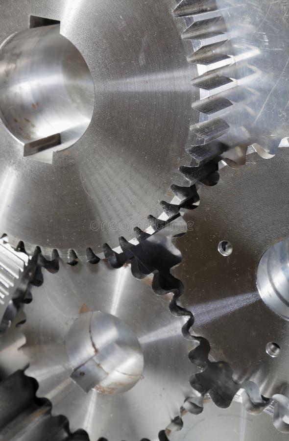 Trains de pouvoir en titane et acier images stock