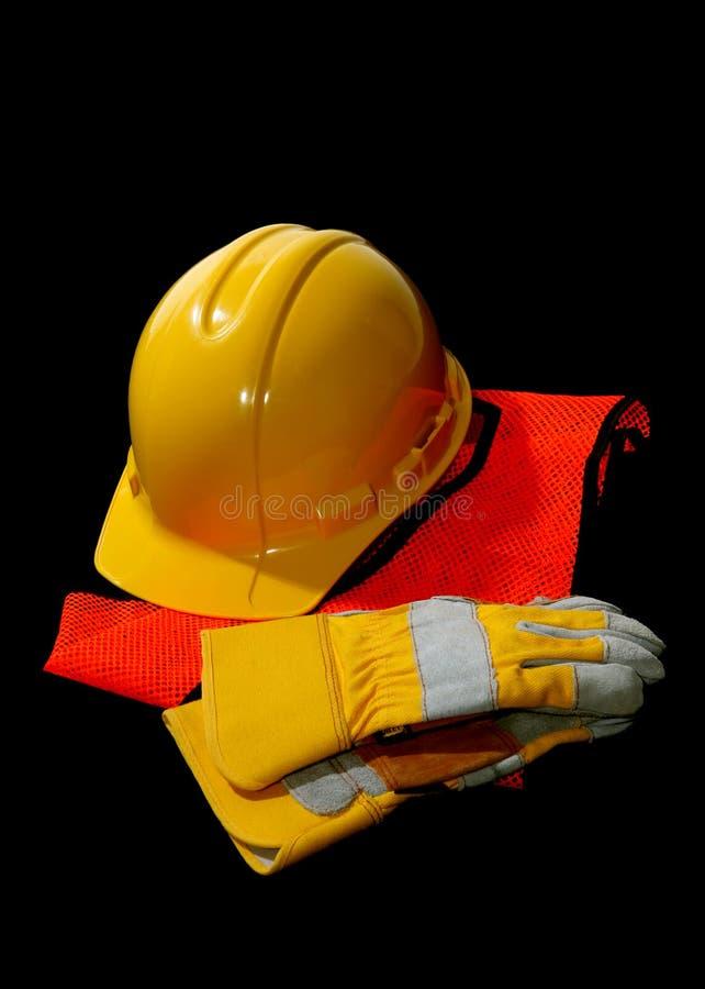 Trains de sécurité dans la construction image stock