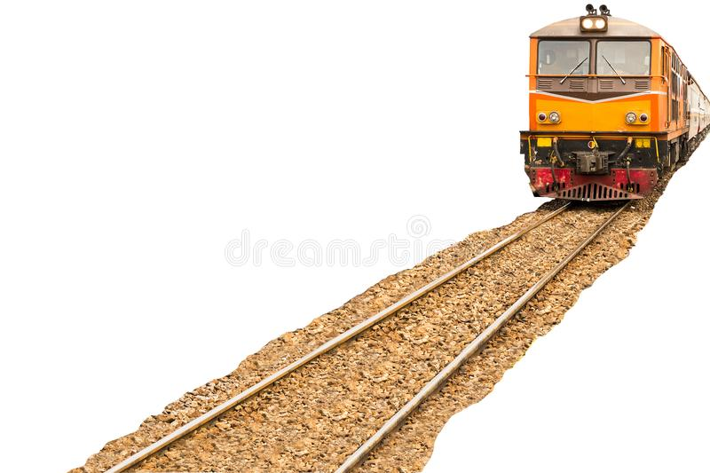 Trains with full passengers are going through to take the tourist to attractions.  stock photo