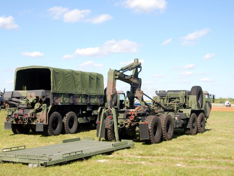 Trains militaires photographie stock