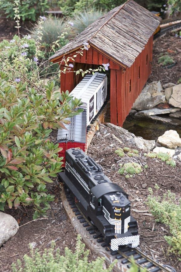 Trains modelo na exposição imagens de stock royalty free