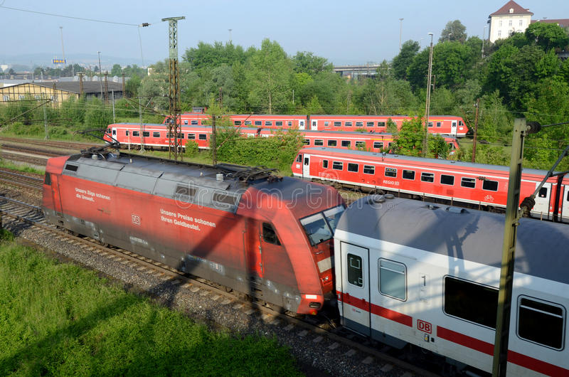Download Trains Outside Ulm´s Terminal Editorial Stock Photo - Image: 28592013