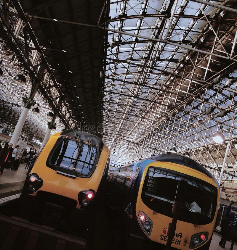Trains at the platform, Manchester Piccadilly royalty free stock photo