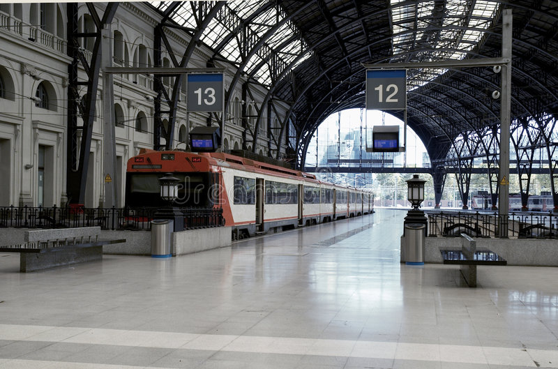 Trains at the railroad station royalty free stock photo