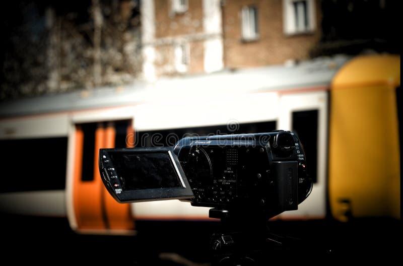 Trainspotter widok fotografia stock