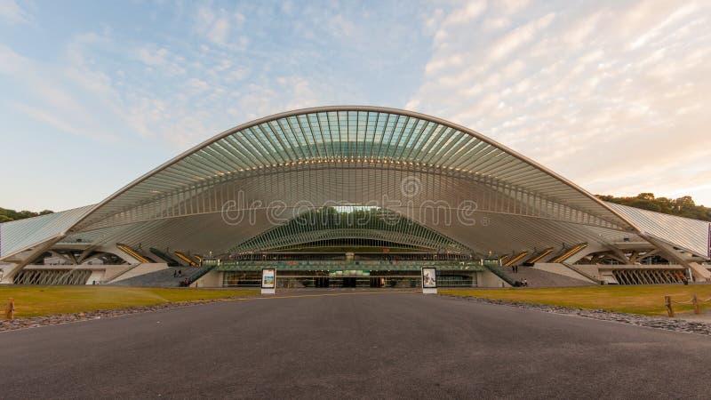 Trainstation Liège Guillemins, Belgia zdjęcia royalty free