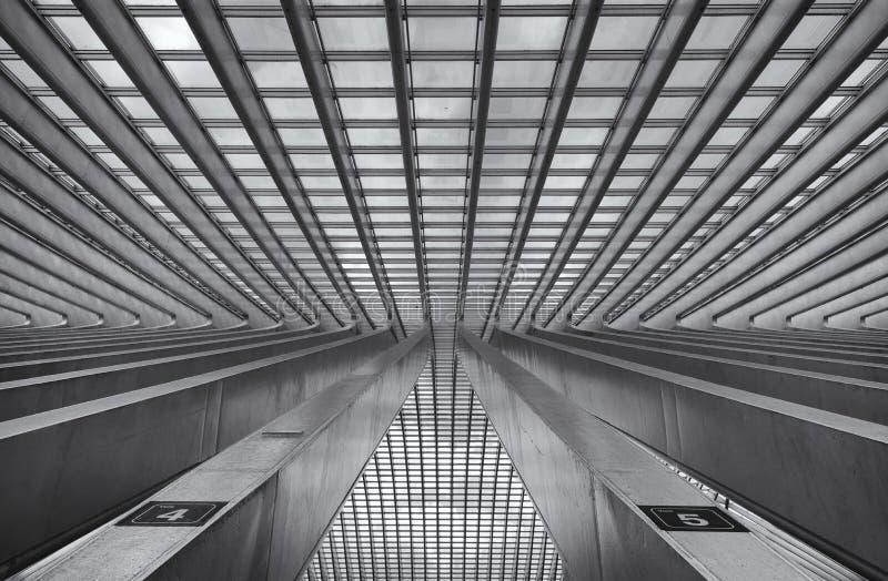 Trainstation Liegi Belgio fotografia stock libera da diritti
