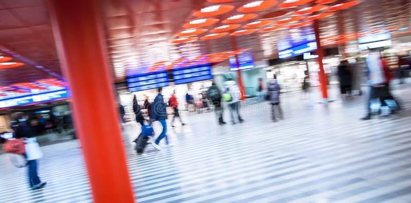 Trainstation pośpiech fotografia stock