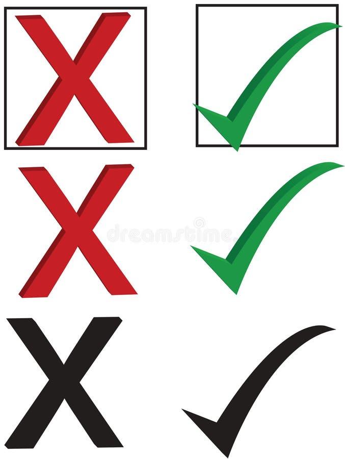 Trait de repère et X illustration libre de droits