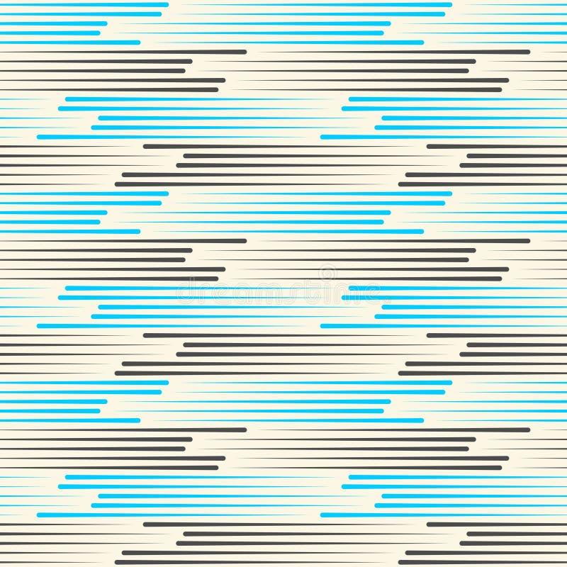 Trait horizontal sans couture fond Textu bleu et noir de vecteur illustration stock