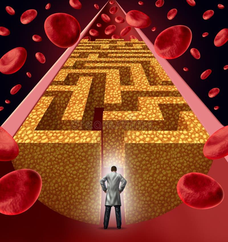 Traitement à cholestérol illustration libre de droits