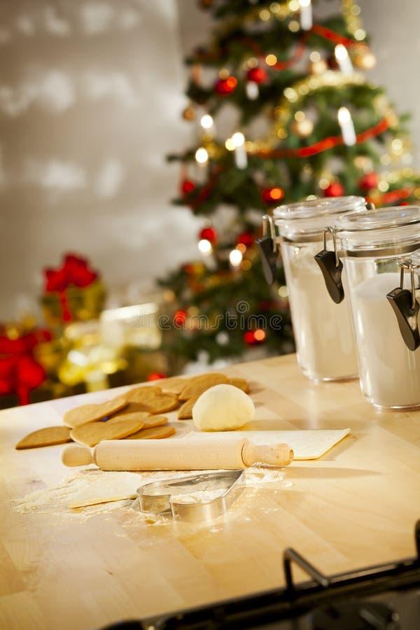 Traitement au four de Noël images stock