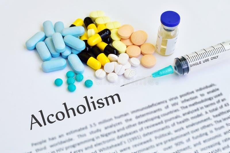 Traitement d'alcoolisme photos stock