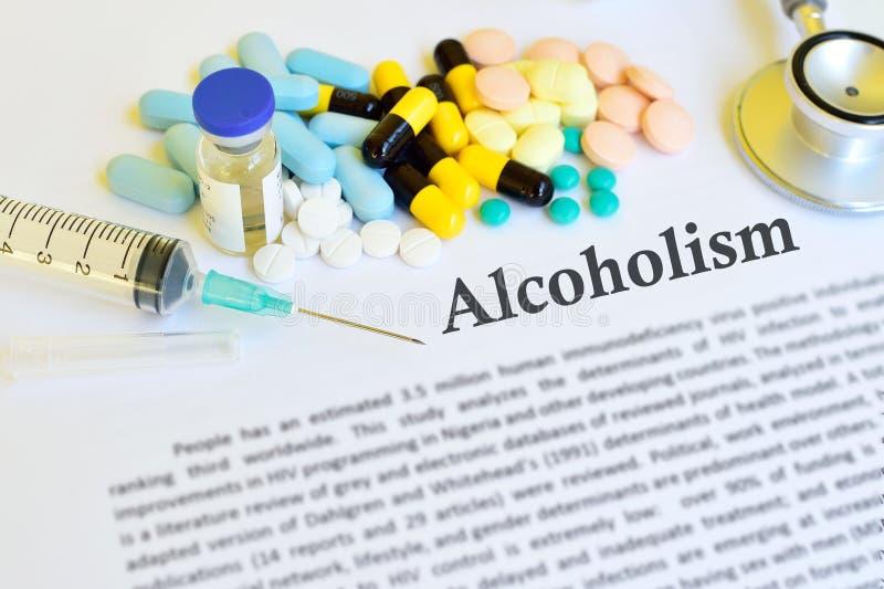 Traitement d'alcoolisme photographie stock