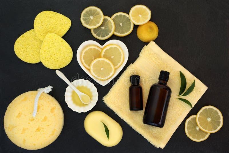 Traitement de beauté de station thermale de citron images stock