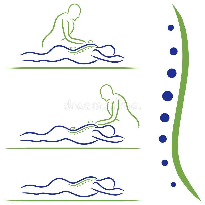 Traitement de massage photographie stock libre de droits