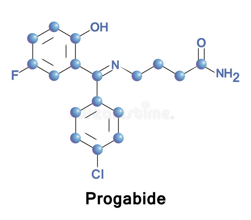 Traitement de Progabide de l'épilepsie illustration stock