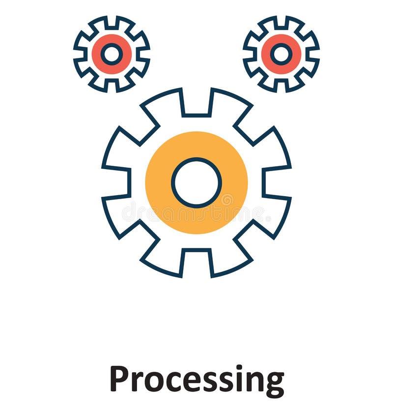 Traitement de roue dentée d'isolement et icône de vecteur pour la technologie illustration stock