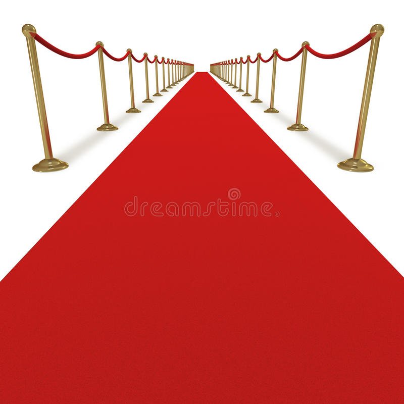 Traitement du tapis rouge VIP illustration stock