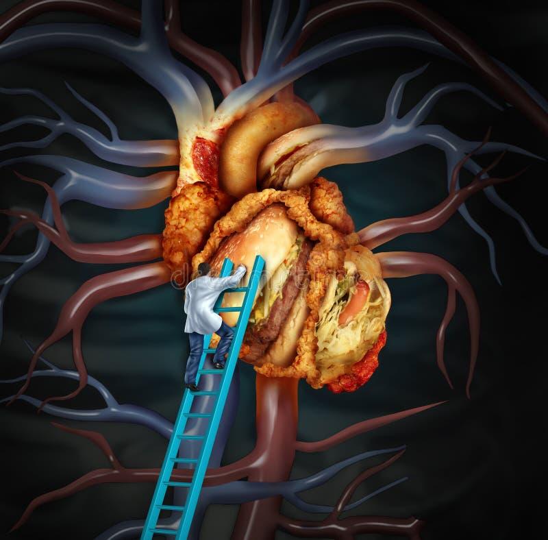 Traitement riche en cholestérol illustration stock