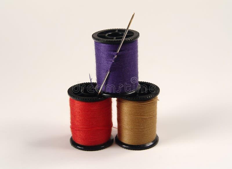 Traitements différés de couture colorés image stock