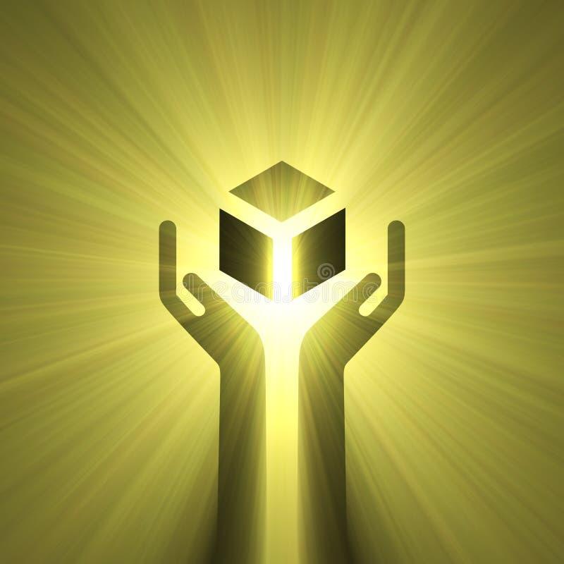 Traitez avec l'épanouissement de lumière de soin illustration de vecteur