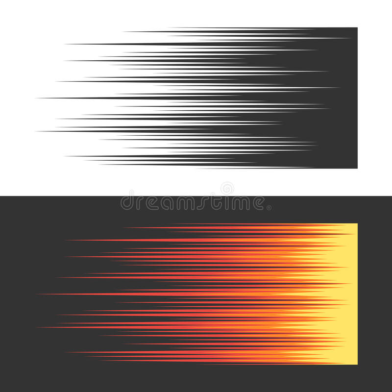 Traits horizontaux de mouvement de vitesse illustration de vecteur