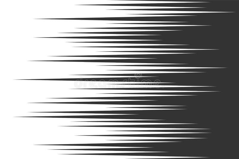 Traits horizontaux de vitesse noire illustration de vecteur