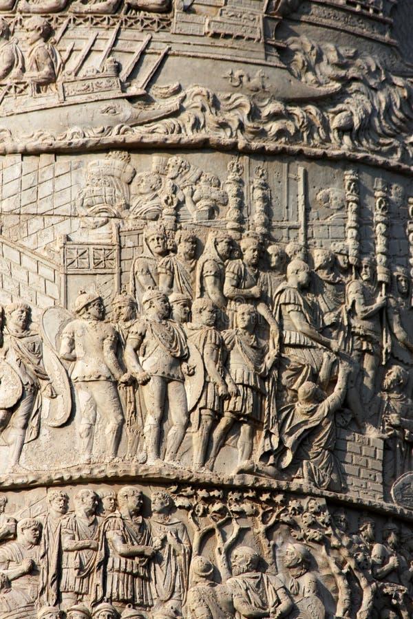 Trajan列在罗马 免版税库存照片