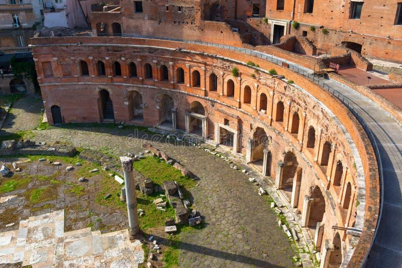 Trajan市场在罗马 库存图片