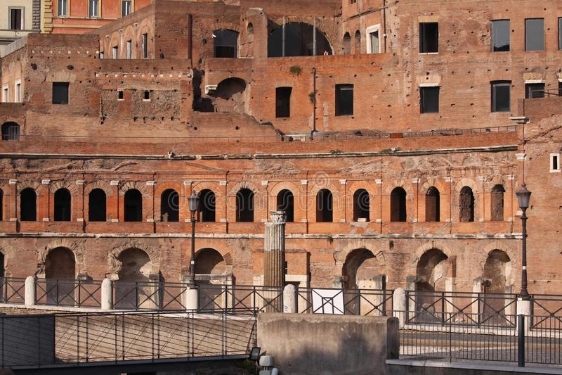 Trajan市场罗马 库存图片