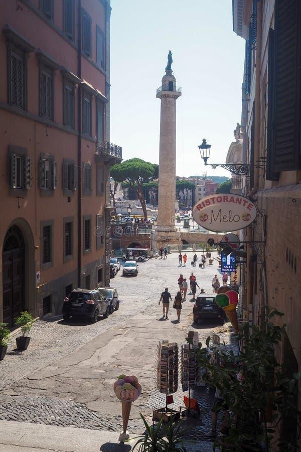 Trajan的专栏在罗马,意大利 免版税库存图片