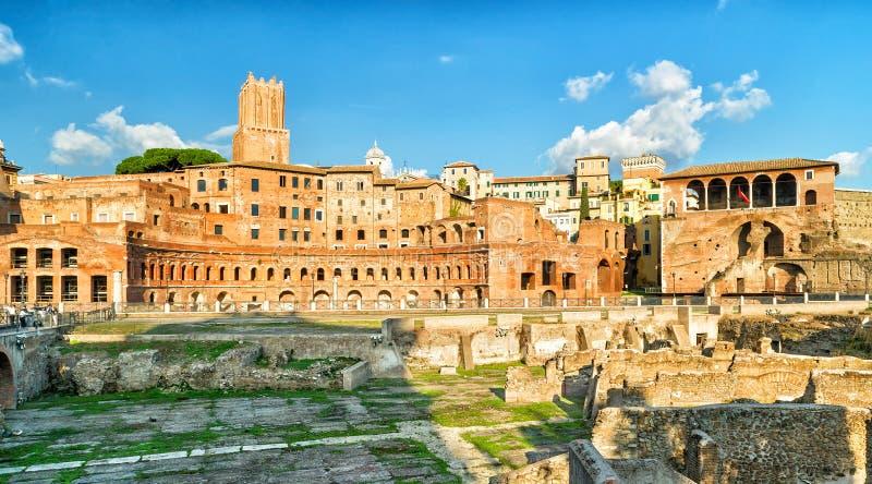 Trajan论坛和市场在罗马 库存照片