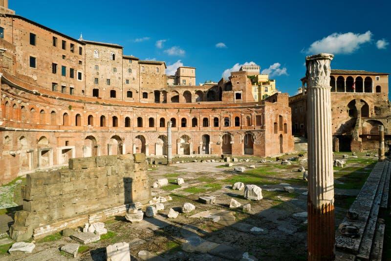 Trajan论坛在罗马 库存图片
