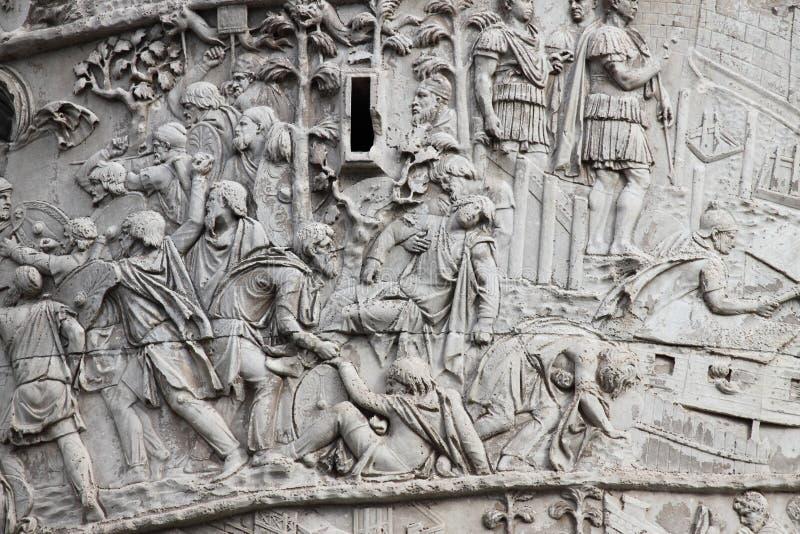 Trajan column in Rome stock photography