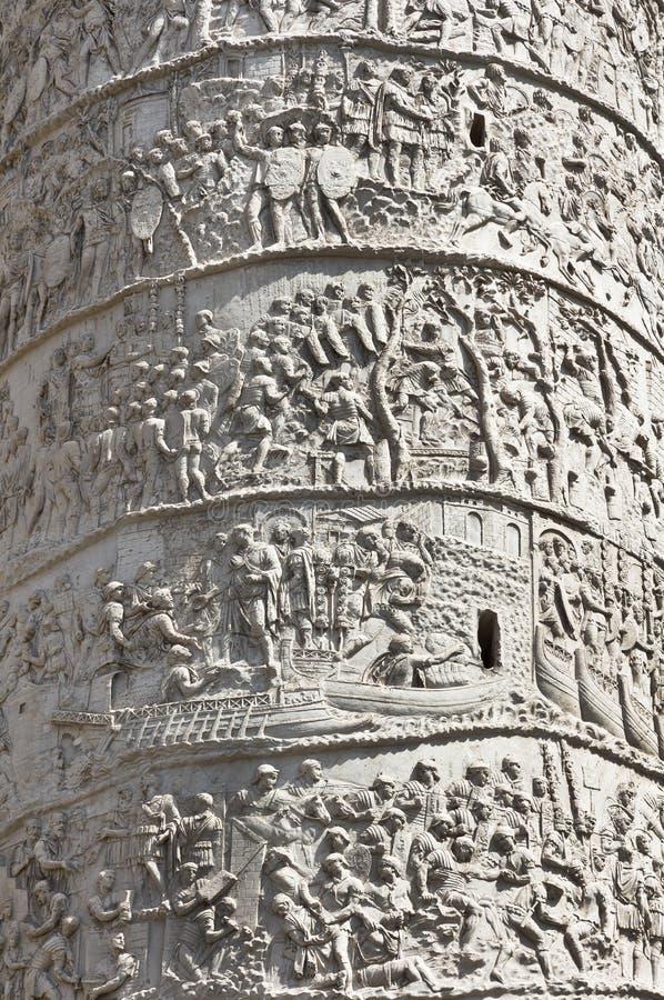 Trajan column in Rome royalty free stock photo