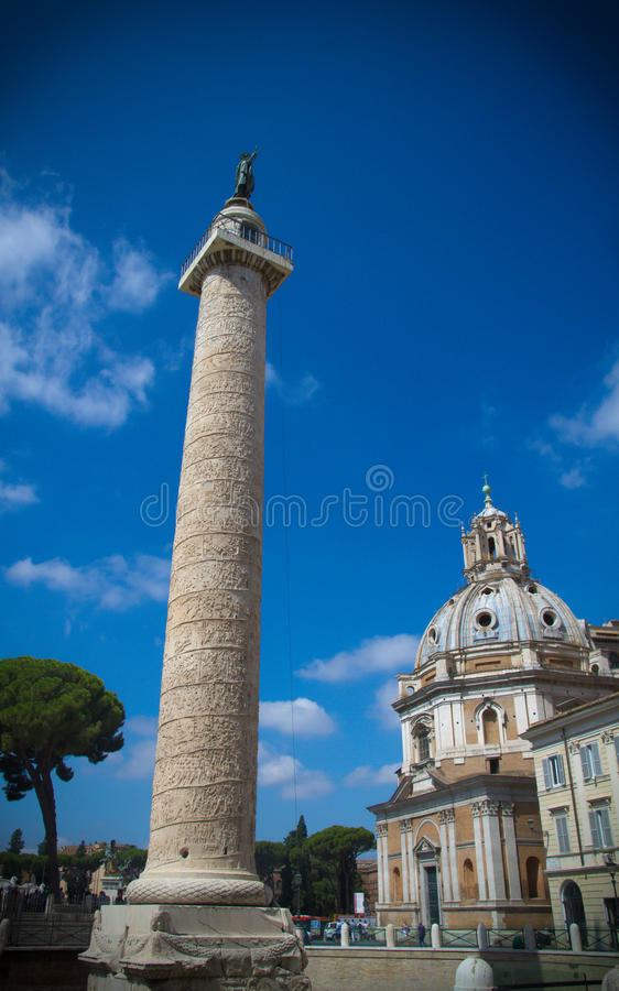 Trajan Forum, Rome. Stock Photo