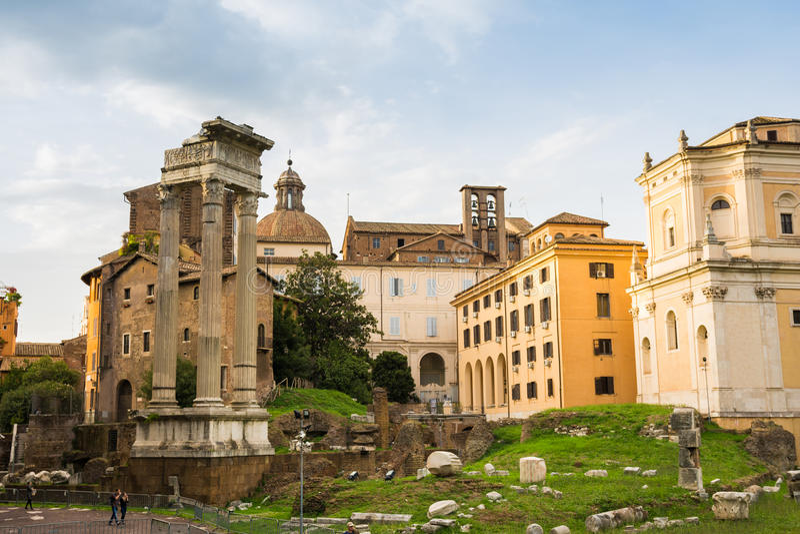Trajan forum ruiny i capitoline wzgórze obraz royalty free