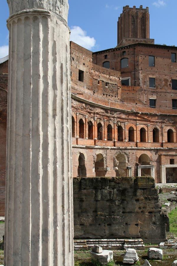 Trajan forum szczegóły obrazy stock