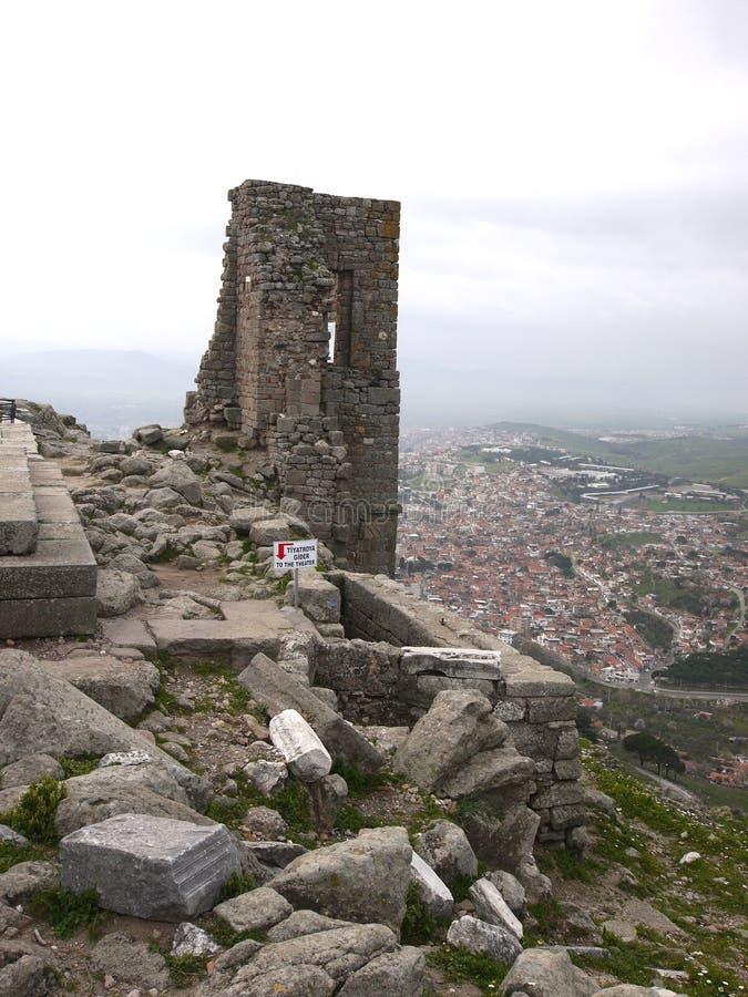 Akropolis von Pergamon in der Türkei stockbild