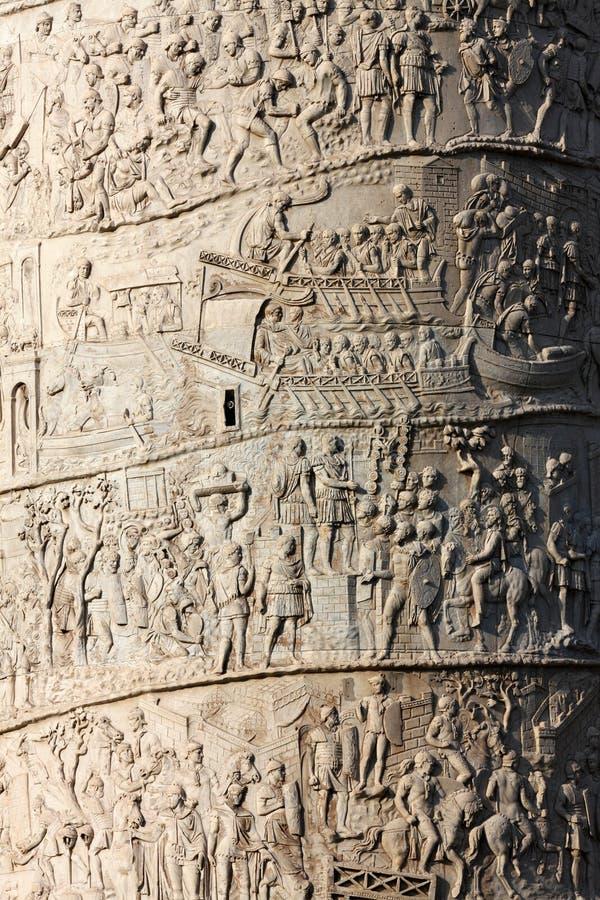 trajan kolonn royaltyfria foton