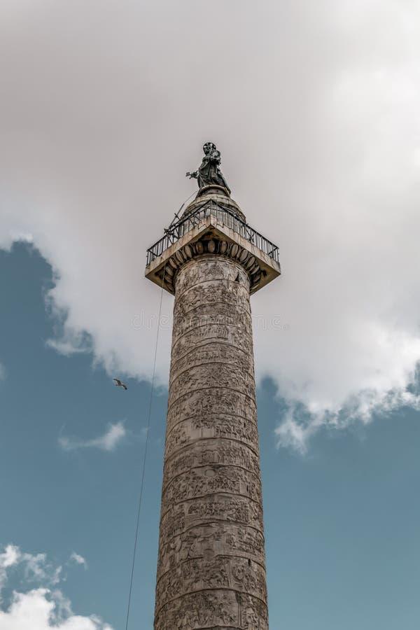 trajan kolonn royaltyfri fotografi