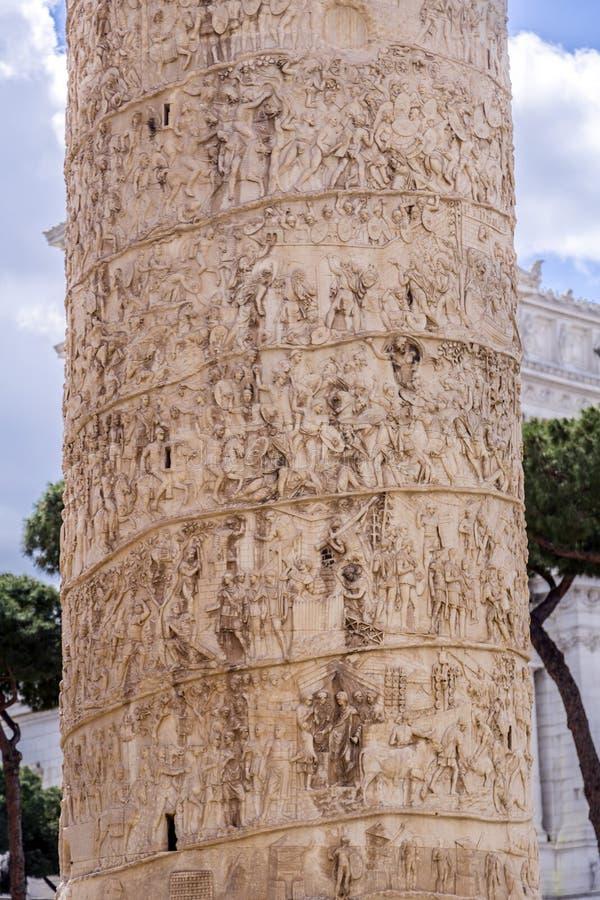 trajan kolonn arkivbilder